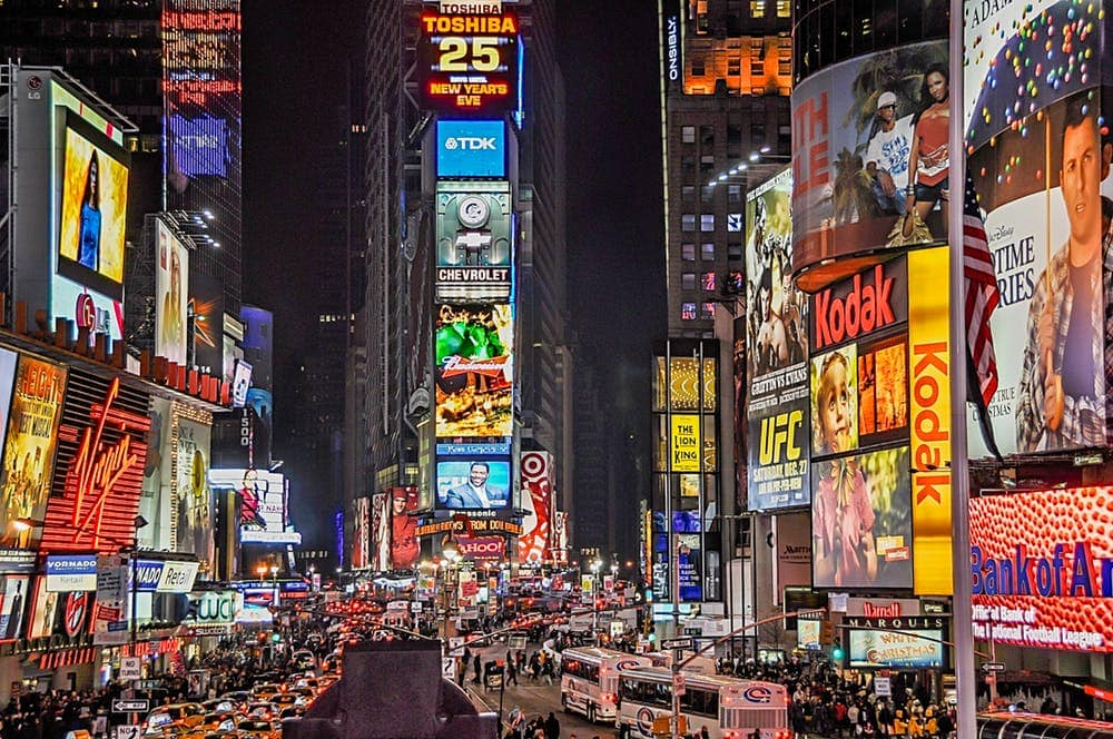 Nightlife at Times Square